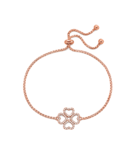 Rose Gold Plated Miss H4H Toggle Bracelet - 5010.3777