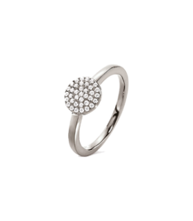 Discus silver ring size 56 - 5045.6833