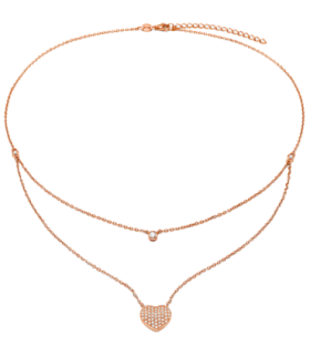 Love Rose Hearts Double Chain - 5020.3646