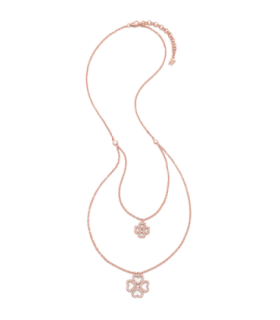Four Leaf Clover double necklace - 5020.3473
