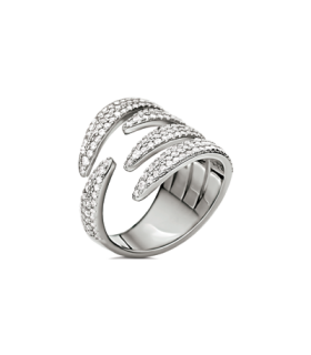 Temptation Silver ring size 54 - 5045.6047