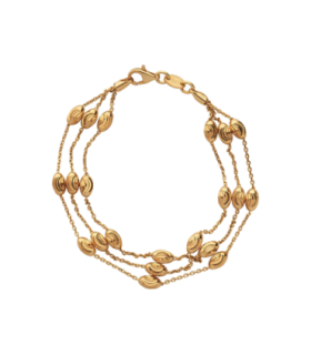 Essentials Beaded Chain 3 Row Bracelet Large - 5010.3676