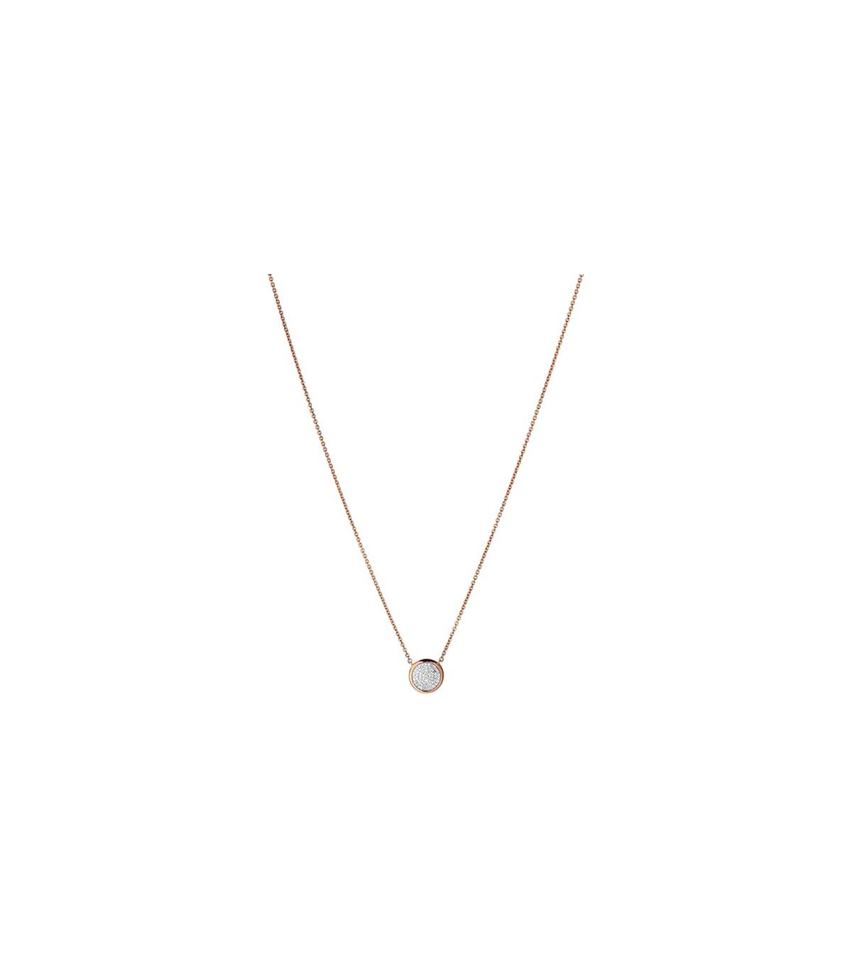 ba9cf8e22724 Diamond Essentials RGP Vermeil & Diamond Pave Necklace - 5020.2726