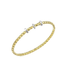 Stretch Yellow gold spring bracelet - 1B00955B12180