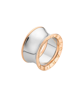Bulgari Jewellery b.zero1 anish kapoor steel rose gold ring Size 49 - AN855685 - 345872