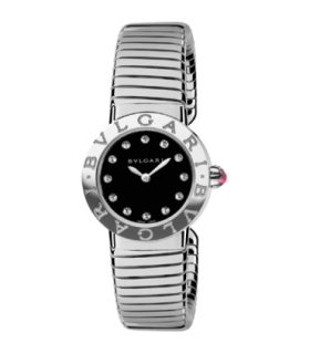 Bulgari Bulgari tubogas ss diamond quartz watch - BBL262TBSS/12.S - 102224