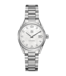 Tag Heuer Carrera Lady ss 32mm Diamonds Quartz Watch - WAR1314.BA0778