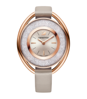 Swarovski Watches crystalline oval rose gold quartz watch - 5158544