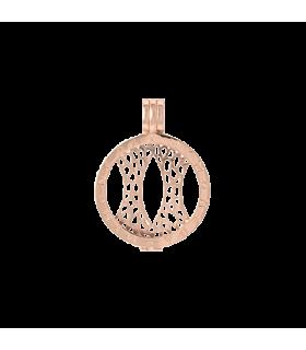 Mi Moneda silver rose gold plated pendant s - PEN-03-S