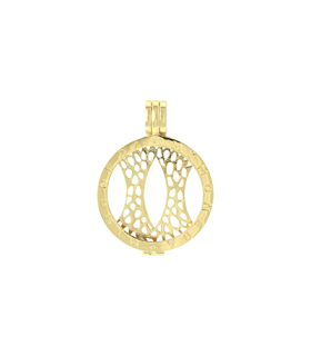 Mi Moneda silver yellow gold plated pendant l - PEN-02-L