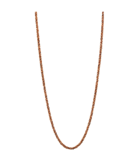 Mi Moneda destello silver rose gold plated necklace - NEC-03-DES-80
