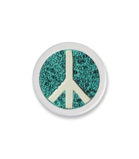 Mi Moneda peace disc steel cubic zirconian disc - PD-18-S