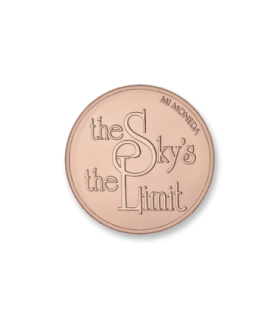 Mi Moneda 925 silver rose gold plated sky disc - MON-SKY-03-L