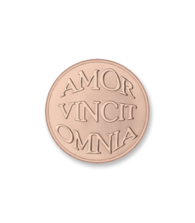 Mi Moneda 925 silver rose gold plated disc - MON-AMO-03-S