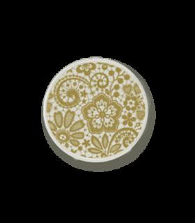 Mi Moneda encaje 925 silver plated lace print disc - ENC-42-L