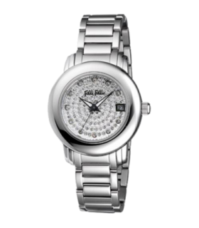 Folli Follie urban spin cz steel quartz watch - WF9T015BTS - 6015.1032