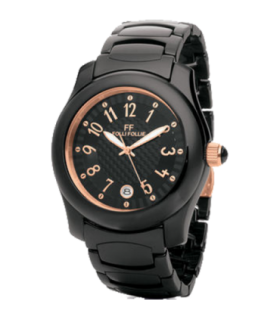 Folli Follie wist black ceramic quartz watch - WF9F002BDM - 6015.0658