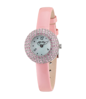 Folli Follie match&amp dazzle cz leather quartz watch - WF0A055SPS - 6015.1426