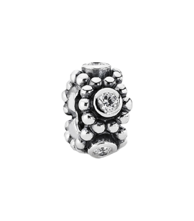 Pandora moments 925 sterling silver cz circle spacer charm - 791122CZ