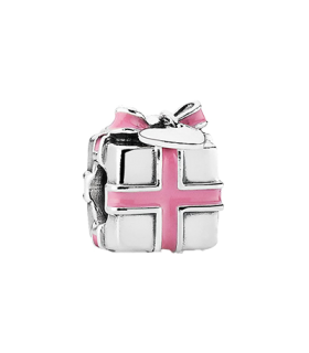 Pandora moments 925 sterling silver pink gift box enamel charm - 791132EN24