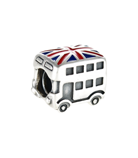 Pandora moments 925 sterling silver uk bus enamel charm - 791049ER