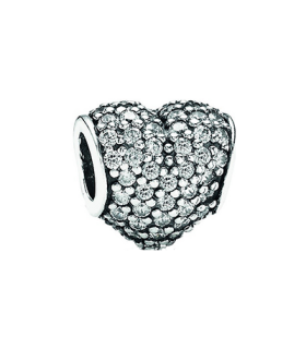 Pandora moments 925 sterling silver cz complete heart charm - 791052CZ