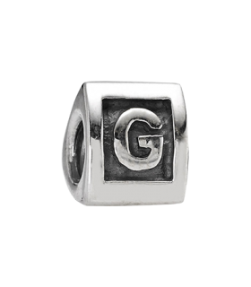 Pandora moments 925 sterling silver letter g charm - 790323G