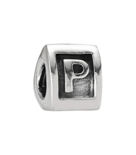 Pandora moments 925 sterling silver letter p charm - 790323P