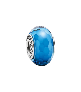 Pandora moments 925 sterling silver turquoise faceted murano charm - 791607