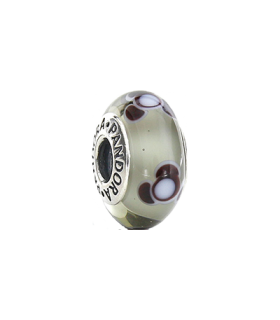 Pandora moments 925 sterling silver white dots murano charm - 790642