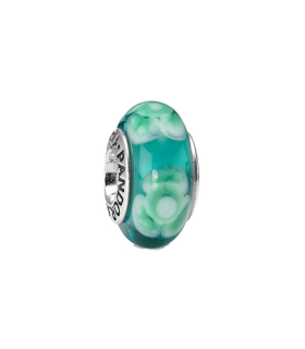 Pandora moments 925 sterling silver turquoise flower murano charm - 790649