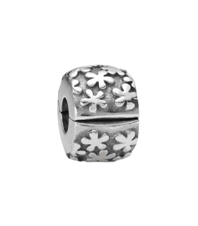 Pandora moments 925 sterling silver flower burst clip charm - 790533