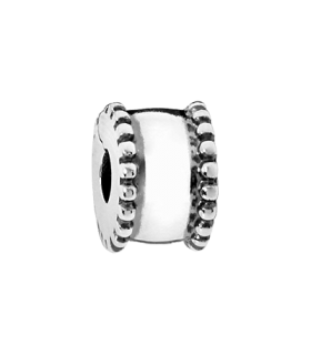 Pandora moments 925 sterling silver round clip charm - 790267