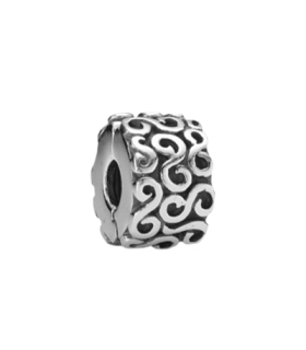 Pandora moments 925 sterling silver swirl serpentine clip charm - 790338
