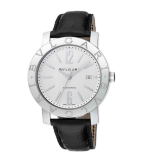 Bulgari Watches Bulgari  42 mm white dial leather automatic watch - BB42WSLD - 101379