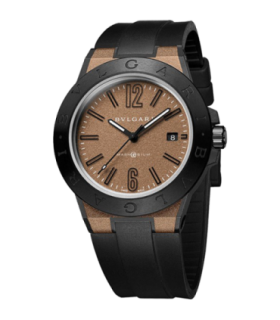 Bulgari Watches Diagono 41mm magnesium brown automatic watch - DG41C11SMCVD - 102306