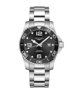 Hydroconquest Black Automatic 41MM - L3.781.4.56.6
