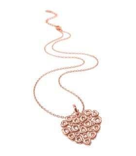 Stories RGP Lace Heart Long Necklace - 5020.3817
