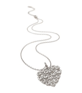 Stories Silver Lace Heart Long Necklace - 5020.3742