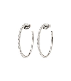 Folli Follie Essentials Silver Medium Hoop Earrings - 5040.3193