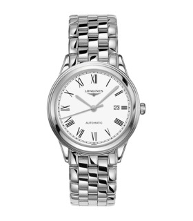 Flagship white Steel Automatic 38.5MM - L4.974.4.11.6