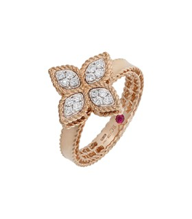 Princess Flower 18R diamonds ring - ADR777RI0639