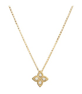 Princess Flower 18Y diamond pendant - ADR777CL0679