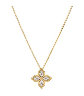Princess Flower 18Y diamond pendant - ADR777CL0680