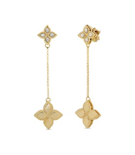 Princess Flower 18Y diamonds earrings - ADR777EA0741