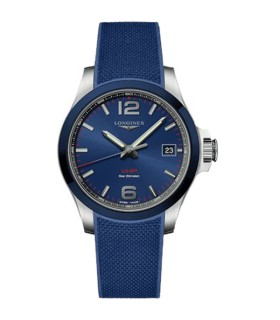 Conquest VHP Blue Quartz 41MM - L3.719.4.96.9