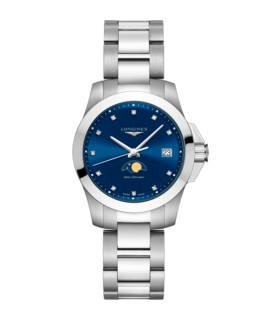 Conquet Moon Phase Quartz 34MM - L3.381.4.97.6