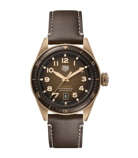 Autavia Brown Automatic 42MM - WBE5191.FC8276
