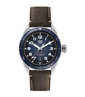 Autavia blue leather automatic 42MM - WBE5116.FC8266