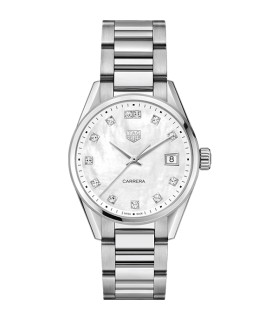 Carrera Wht diamond Quartz 36MM - WBK1318.BA0652